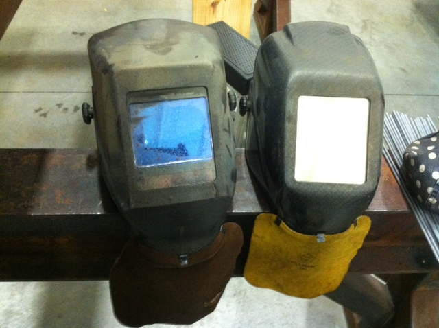 shop welding helmets.JPG